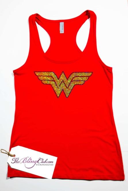 4f4f95fa7ebde theblingclub.com wonderwoman racerback bling tank top · theblingclub.com ...