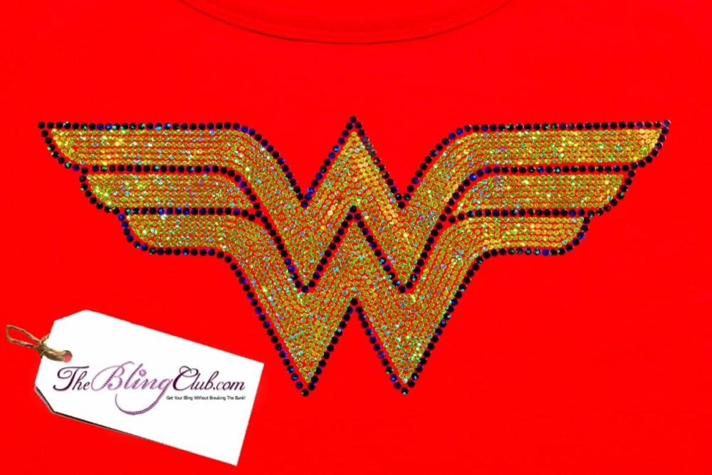 theblingclub.com wonderwoman racerback bling tank top