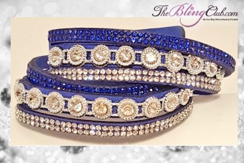 theblingclub-com-modern-antique-blue-wrap-vegan-leather-crystal-bracelet