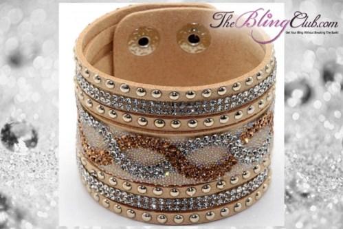 theblingclub.com tan infinity crystal swarovski bling bracelet
