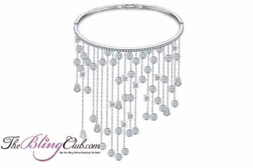 theblingclub.com platinum bangle with dangling swarovski crystals
