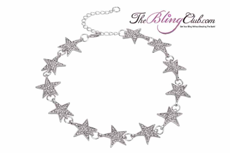 theblingclub.com star swarovski crystal adjustable necklace