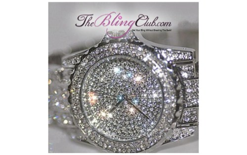 The Bling Club big bling watch side view