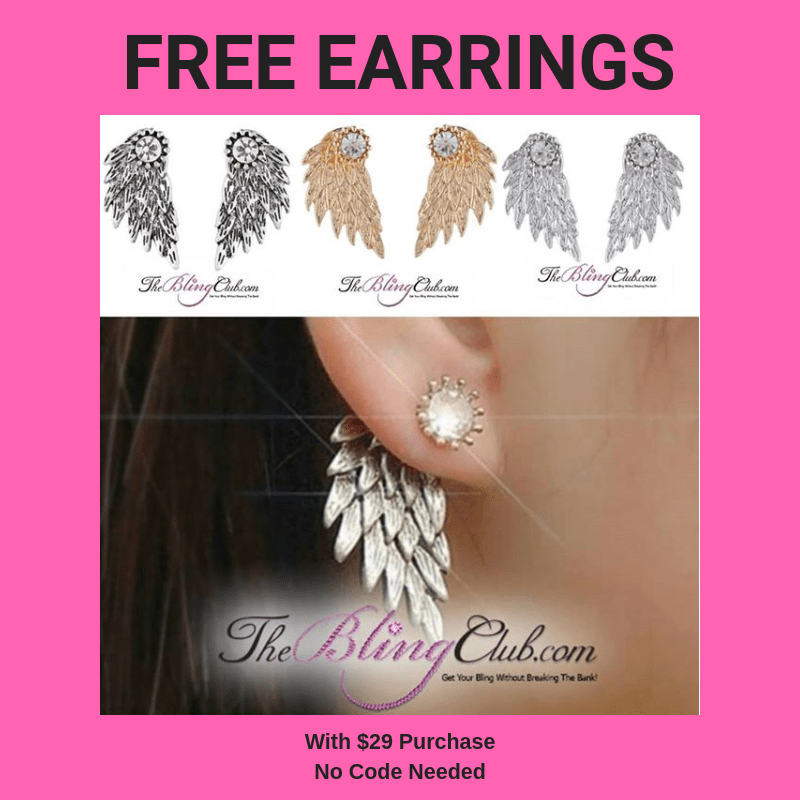free earrings with $29 purchase no code needed