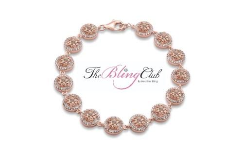 the bling club 14 genuine morganite sterling silver rose gold bracelet
