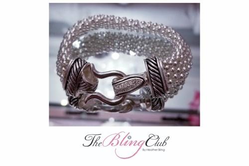 the bling club david yurman look silver crystal magnetic bracelet