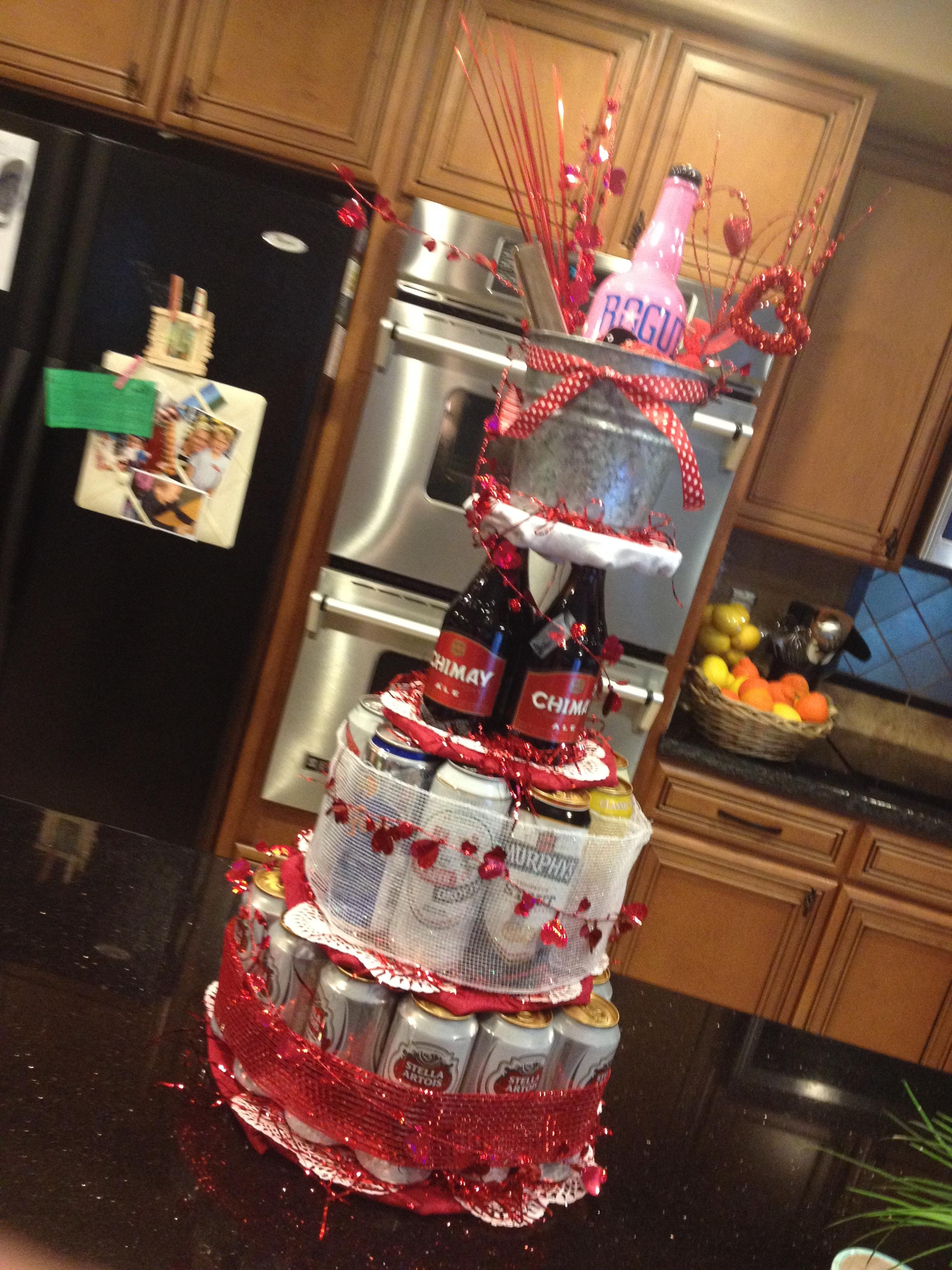 Valentine's Day Beer Tower Theblingyblonde Com