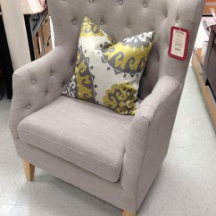 Cheap Accent Chair Pink Christmas Covers My Tuffted Tj Maxx Find – The Blissful Bee