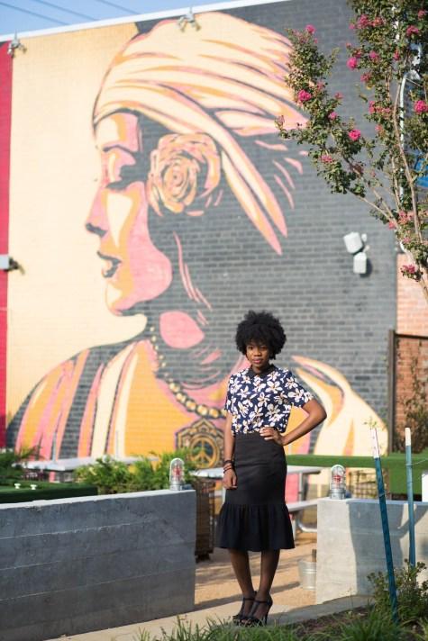 Dallas BIG, Dallas, DFW, DFW Blogger, Midi Skirt, 60s, Mod, floral shirt, dior sunglasses