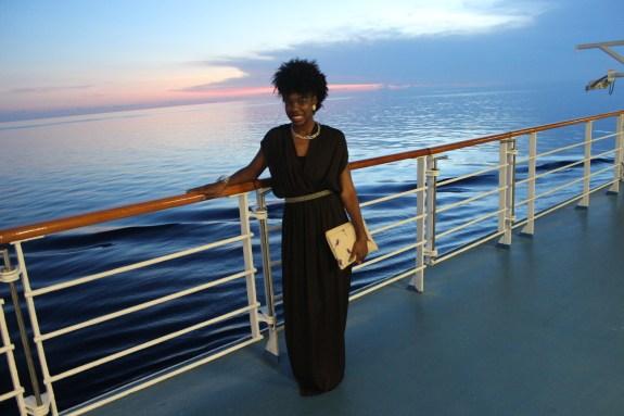 norweigan sky, norwegian cruise, maxi dress, cruise style, sunset