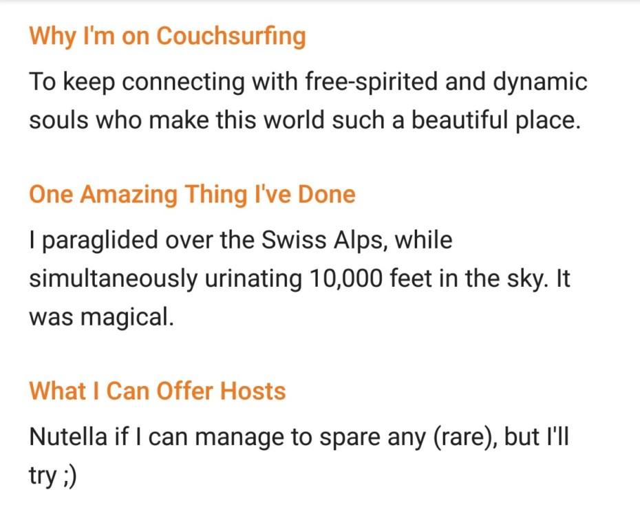 Couchsurfing Profile | TheBlogAbroad.com
