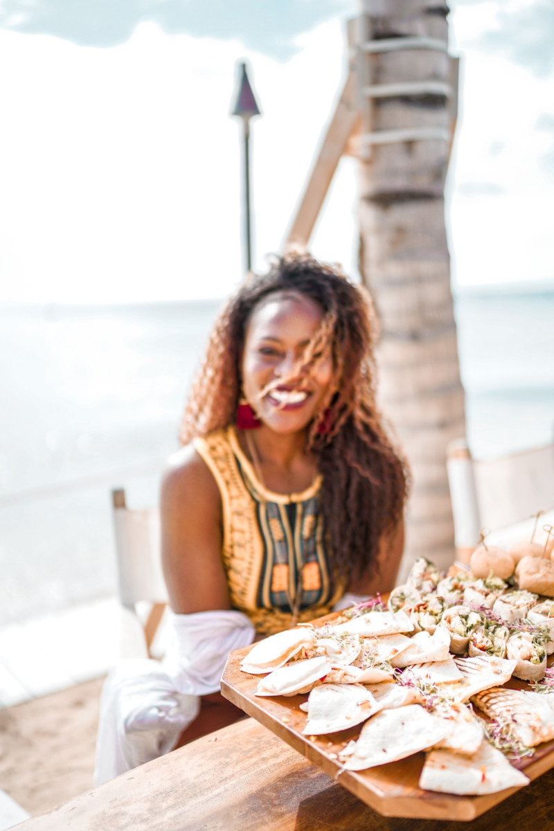 Image result for black girl looking at food