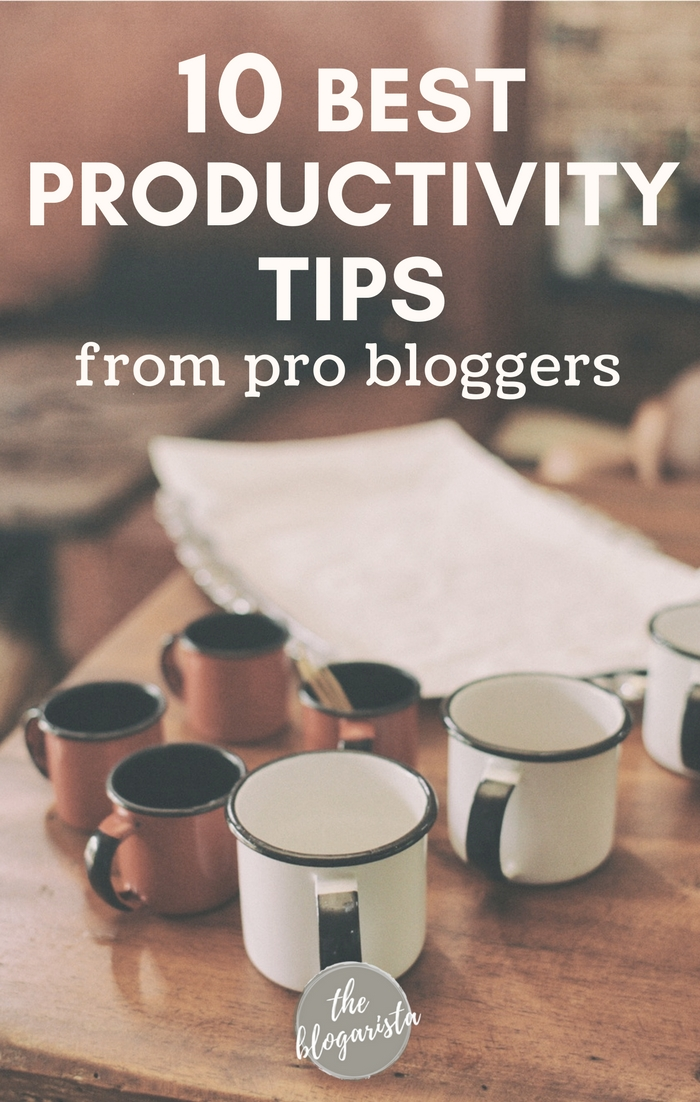 Blogging is tough! There are so many things to do and always more to learn. Get expert tips from pro bloggers for getting more done without losing your mind! 10 pro bloggers share their best productivity tips to help you get more work done in a sea of overwhelm.