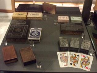 Playing cards printing set.