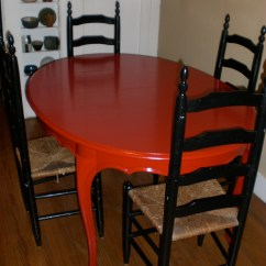 Red Kitchen Table Set How To Build A Island With Breakfast Bar Painting Furniture The Blog Days Of Sommer