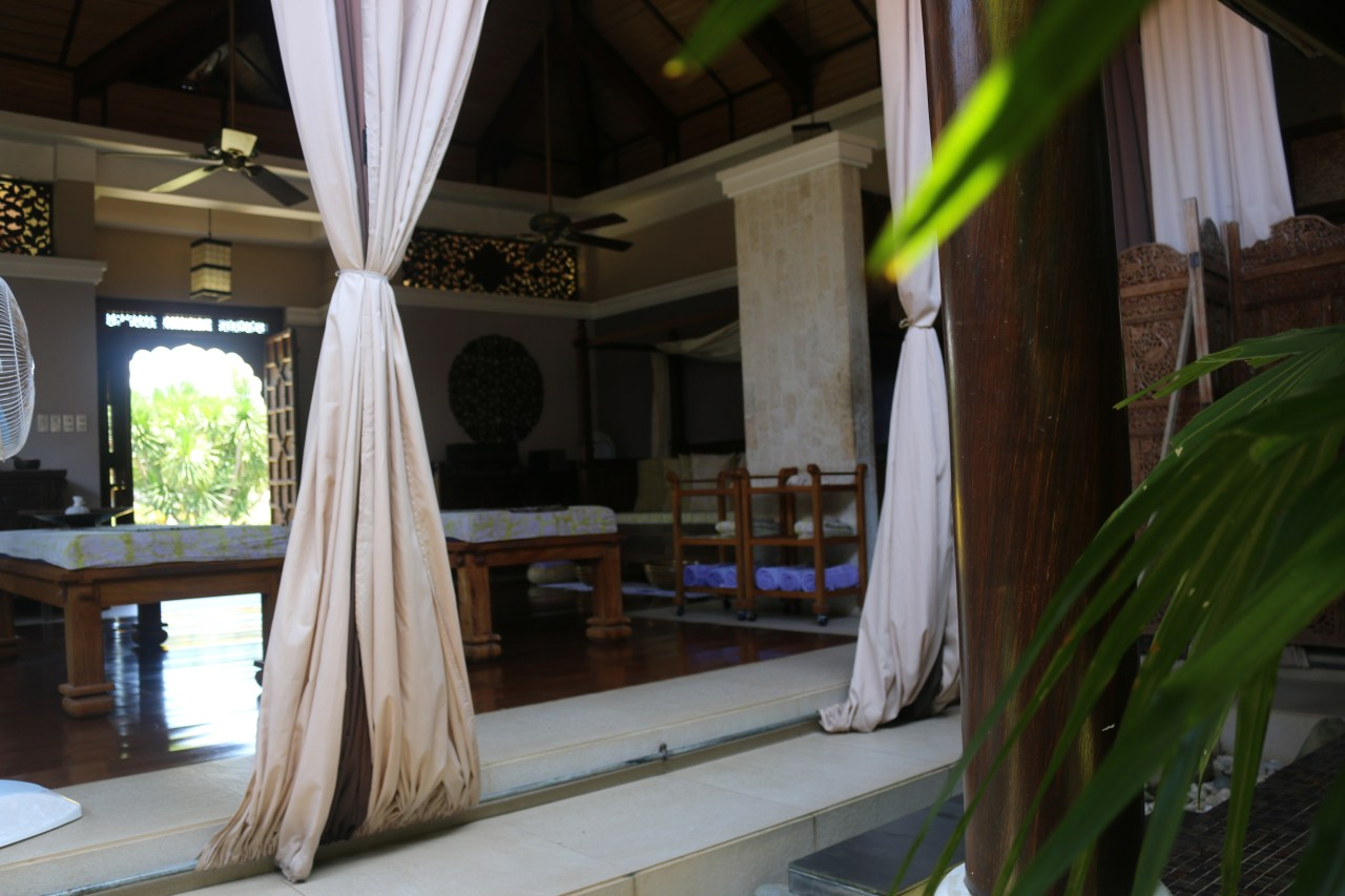 thai villa inside. Tirta Spa Boracay