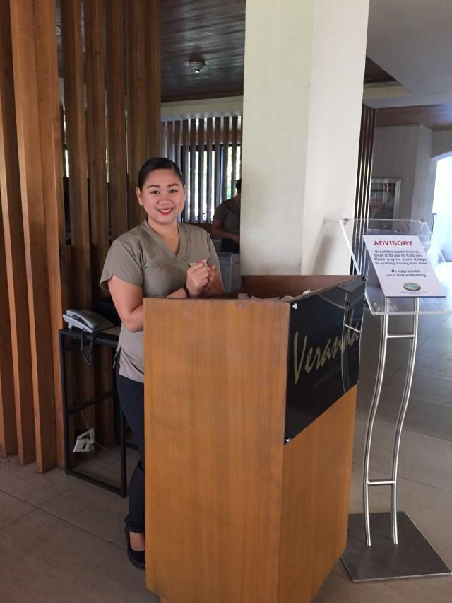 Veranda receptionist