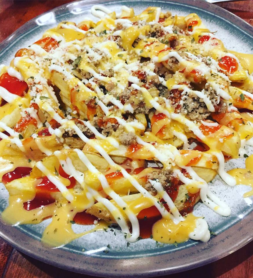 Cheesy meat Fries at Cafe Esse Antipolo