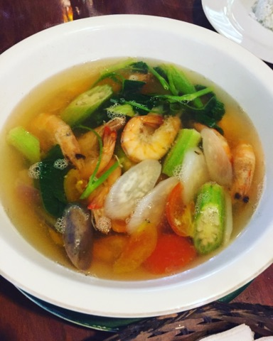 sinigang sa sugpo at Park Rest & Dine Restaurant