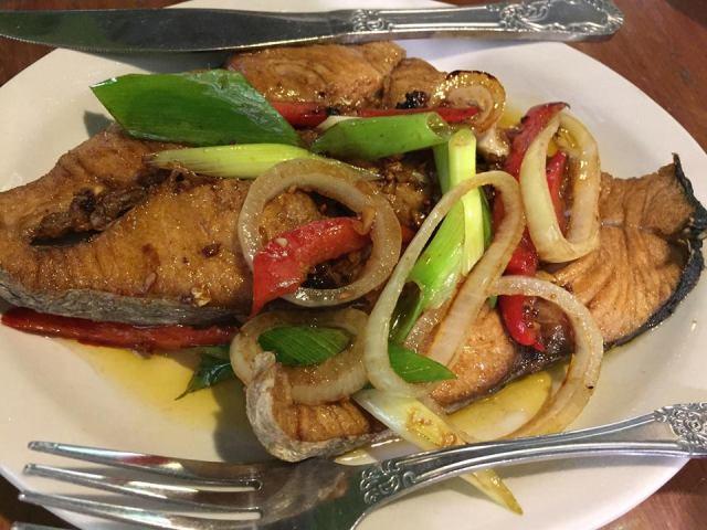 tanigue steak at Park Rest & Dine Restaurant