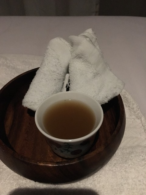 ginger tea after the treatment at Nexus 1 Body Spa Xentro Mall