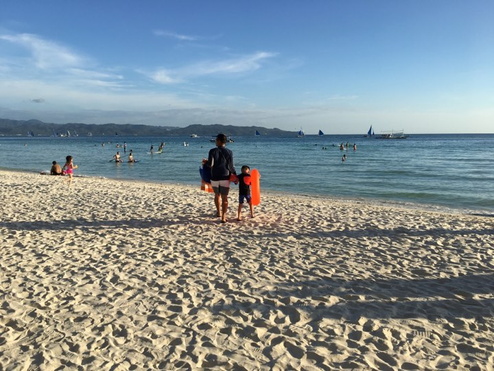 afternoon swim at the beach during our Boracay 2019 Day 2 vacation