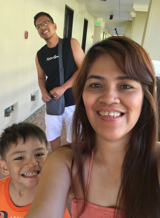 at the corridor before breakfast at the Alta Vista Boracay