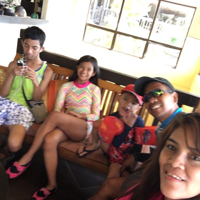 waiting for the shuttle to the puka beach at Alta Vista de Boracay in our Boracay 2019 vacation