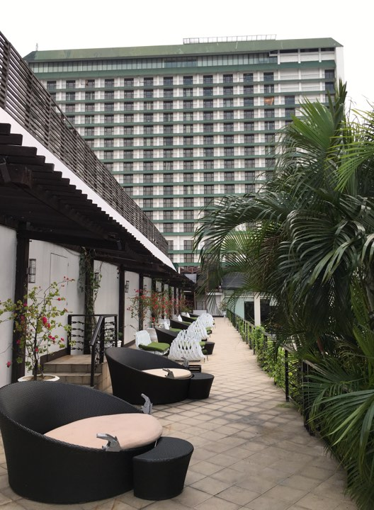 the Manila Hotel  pool area