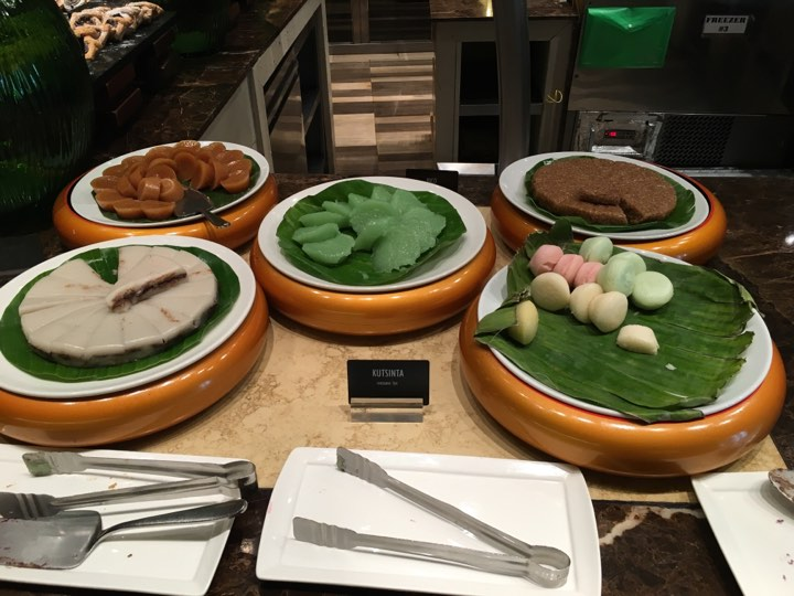 native delicacies at Cafe Ilang-Ilang at the Manila Hotel