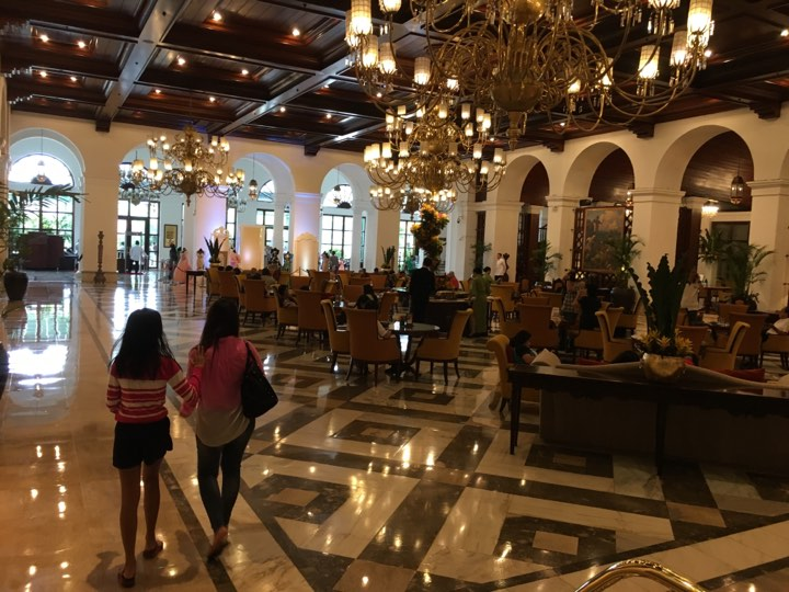 about to check out at the Manila Hotel