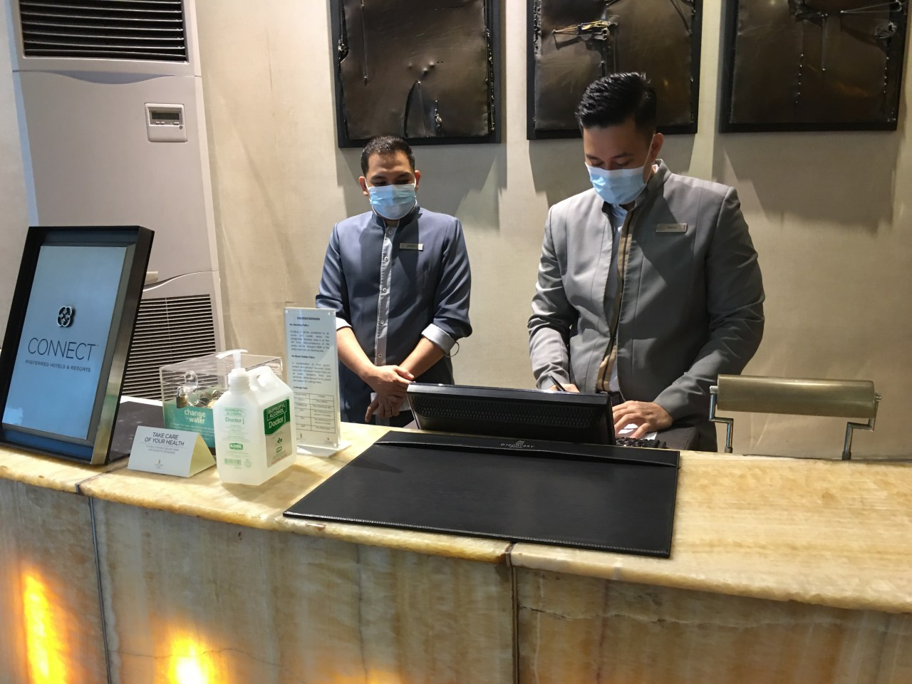 The front desk officers while we were waiting for our luggages