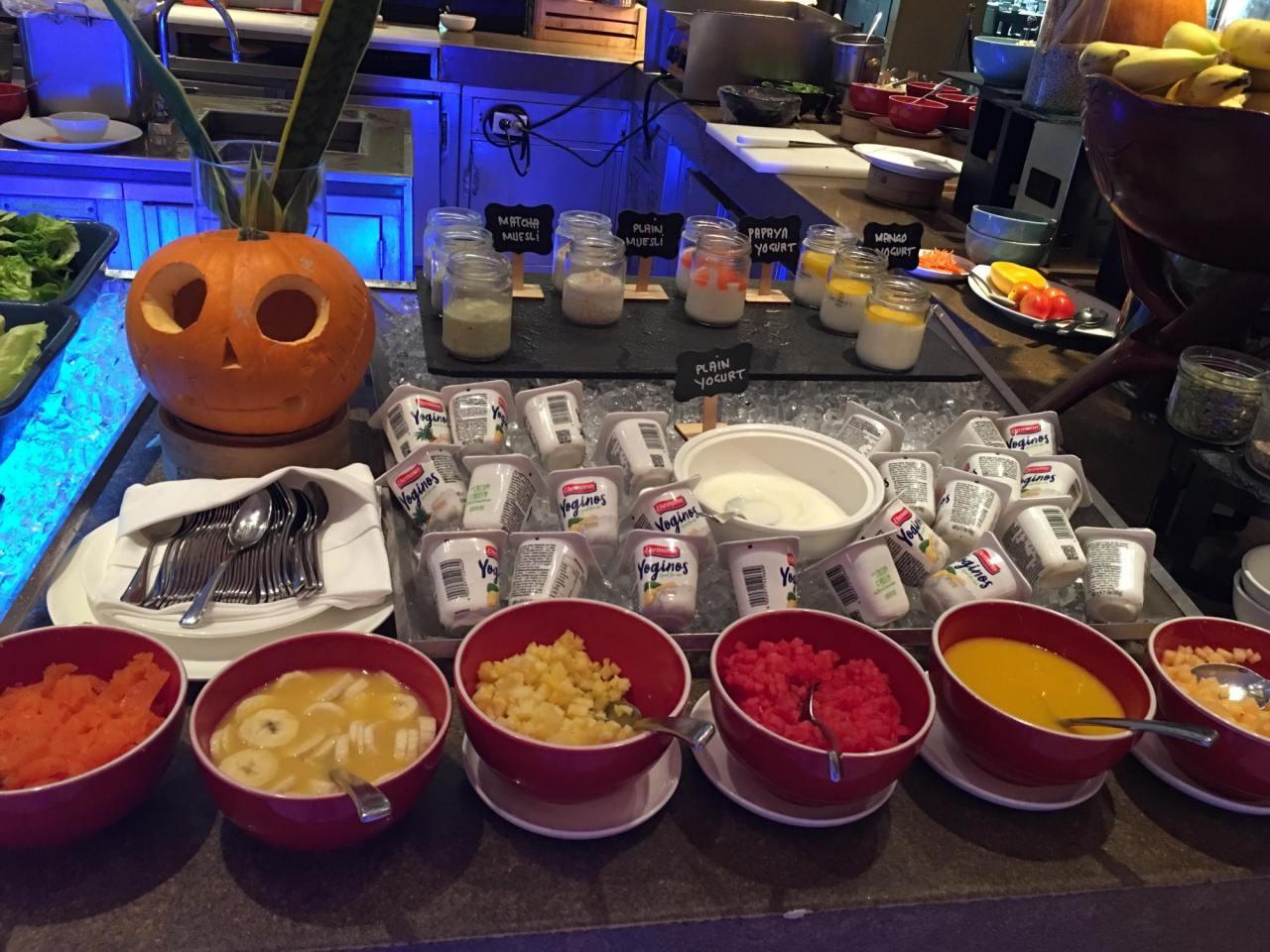 yogurt in our breakfast buffet at the HEAT