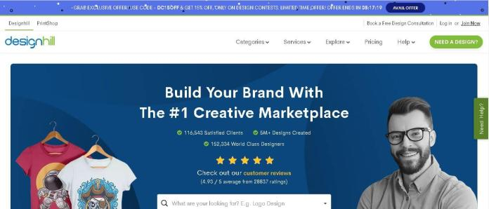 design hill best freelancing websites