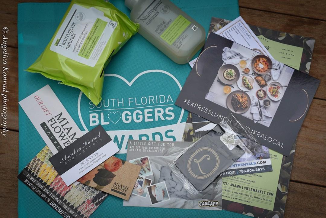 South Florida Bloggers Awards goodie bag