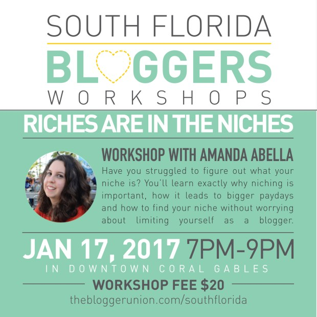 Riches Are In The Niches Workshop With Award Winning Blogger Amanda Abella
