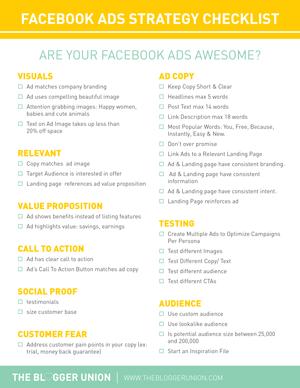Facebook Ads Strategy Checklist