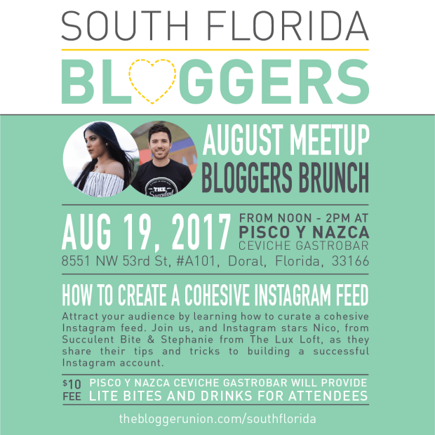 August South Florida Blogger Meetup