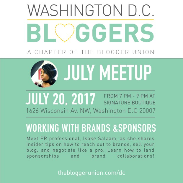 July DC Bloggers Meetup