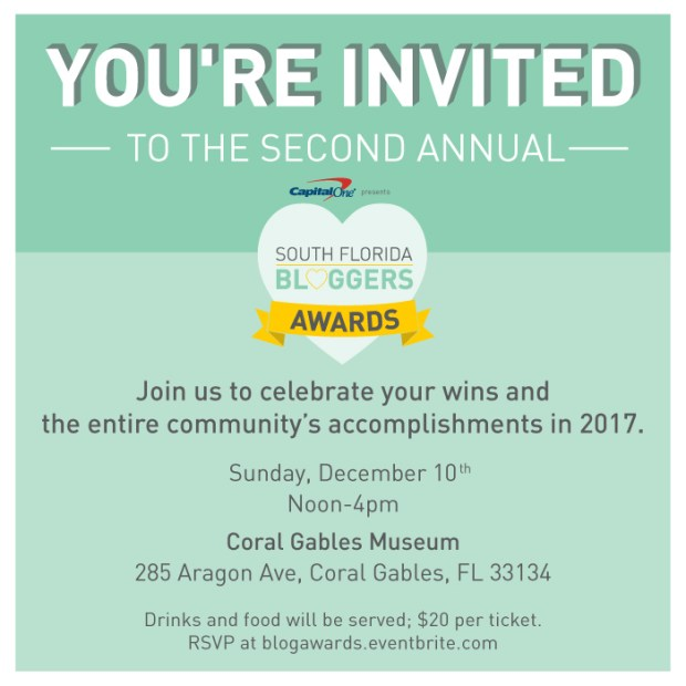Get Your South Florida Bloggers Awards 2017 Tickets! - The