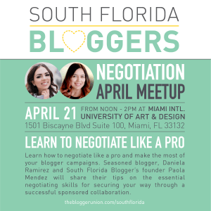 April South Florida Bloggers Meetup