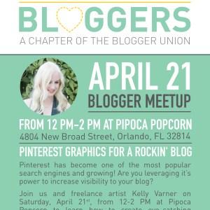 Orlando Blogger Union April Meetup
