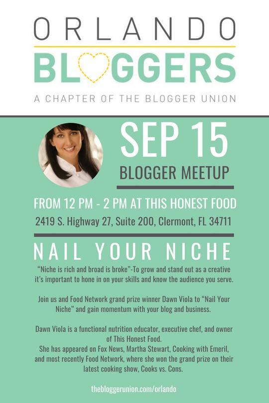 September 2018 Orlando Bloggers Meetup Flyer