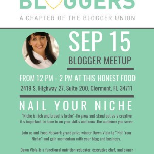 September 2018 Orlando Bloggers Meetup Flyer