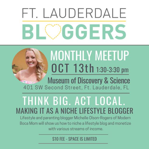 Ft Lauderdale Bloggers Oct Meetup