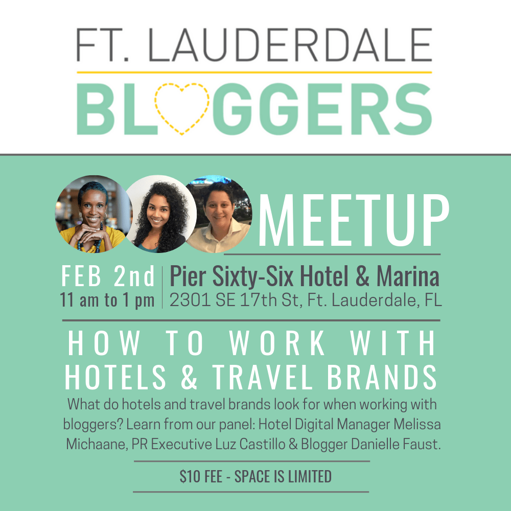 Travel Blogging and Working with Hotels - Ft Lauderdale Bloggers Meetup