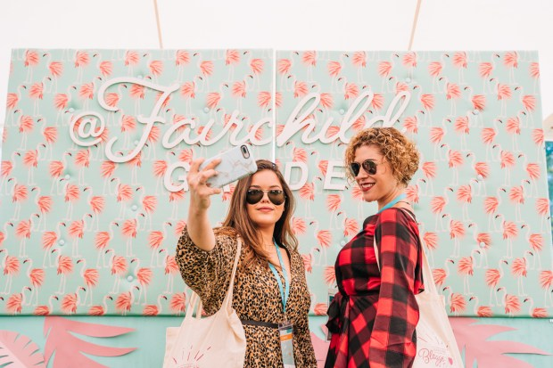 Top Miami Bloggers 2018 - South Florida Blogger Awards - Fairchild Garden photobooth Fabric & Paper Fairchild backdrop by Dapper Animals