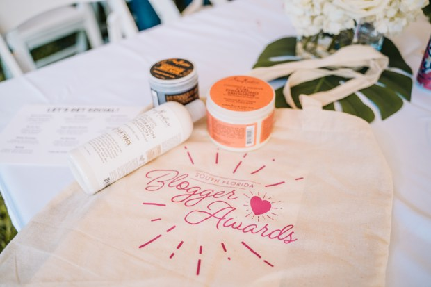 Top Miami Bloggers 2018 - South Florida Blogger Awards - gift bag sponsored by Baptist Health South Florida