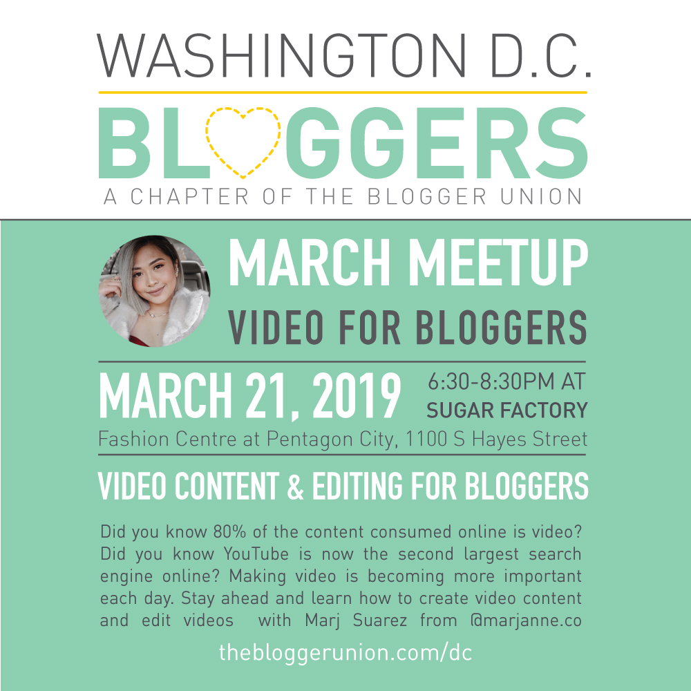 DC BLoggers Meetup: Video Content and Video editing for bloggers