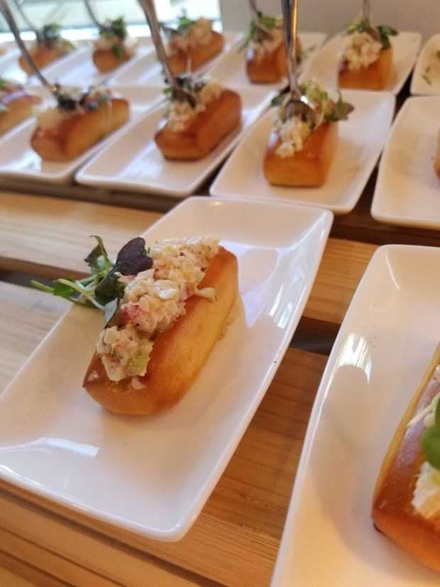 Mini Lobster Rolls by AND Fish Kitchen + Bar in Pompano Beach, Florida.